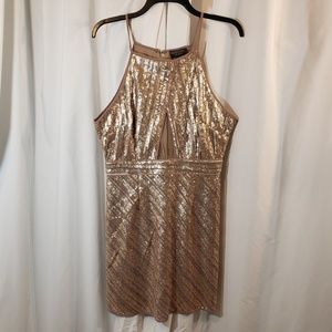 Dress Forum LA L bodycon fitted stretchy sequin dr